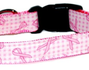 Breast Cancer Dog Collar