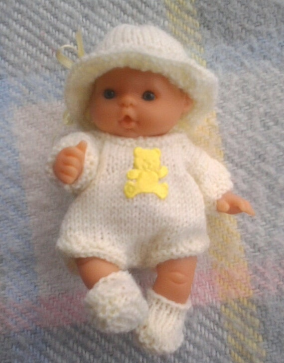 Knitted Dolls Clothes for 5 inch Baby Berenguer