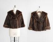 cropped fur coat / mink jacket / cropped fur jacket
