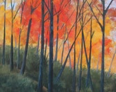 Fall painting, autumn, Original Landscape Painting, by Foust, fall colors