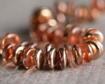Apollo Gold Czech Glass Bead 6mm Lentil : 50 pc