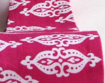 Headbands for Women, Funky Hot Pink Ikat Print