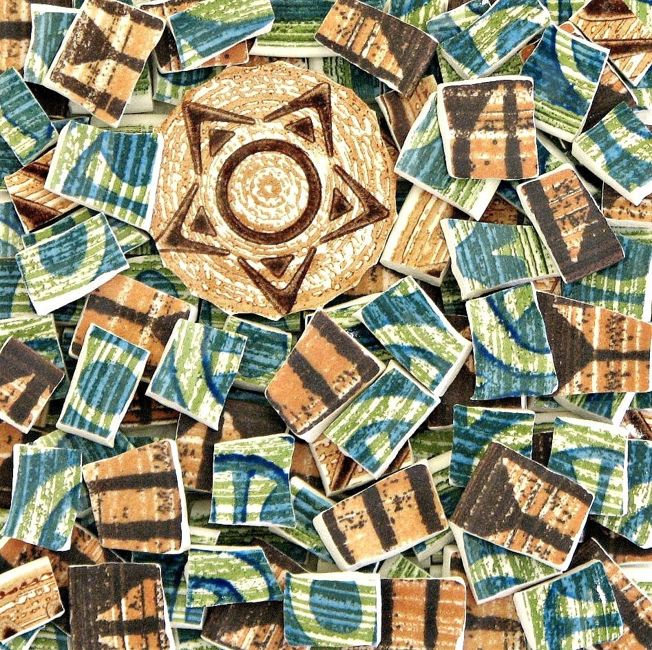 Mosaic craft tiles wonderful retro china mix by for Mosaic tile for crafts