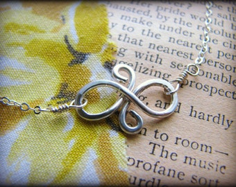 Petite Best Friend Eternal Friendship Necklace -Small Infinity Eternity Symbol Sterling Silver -Gift Girlfriends 22nd 23rd 24th 25th 26th 27