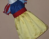 Inspired by Snow White Costume Peasant Dress size 3 6 9 12 18 month mo 2T 3T 4T 5 6 ..... By Girliebows