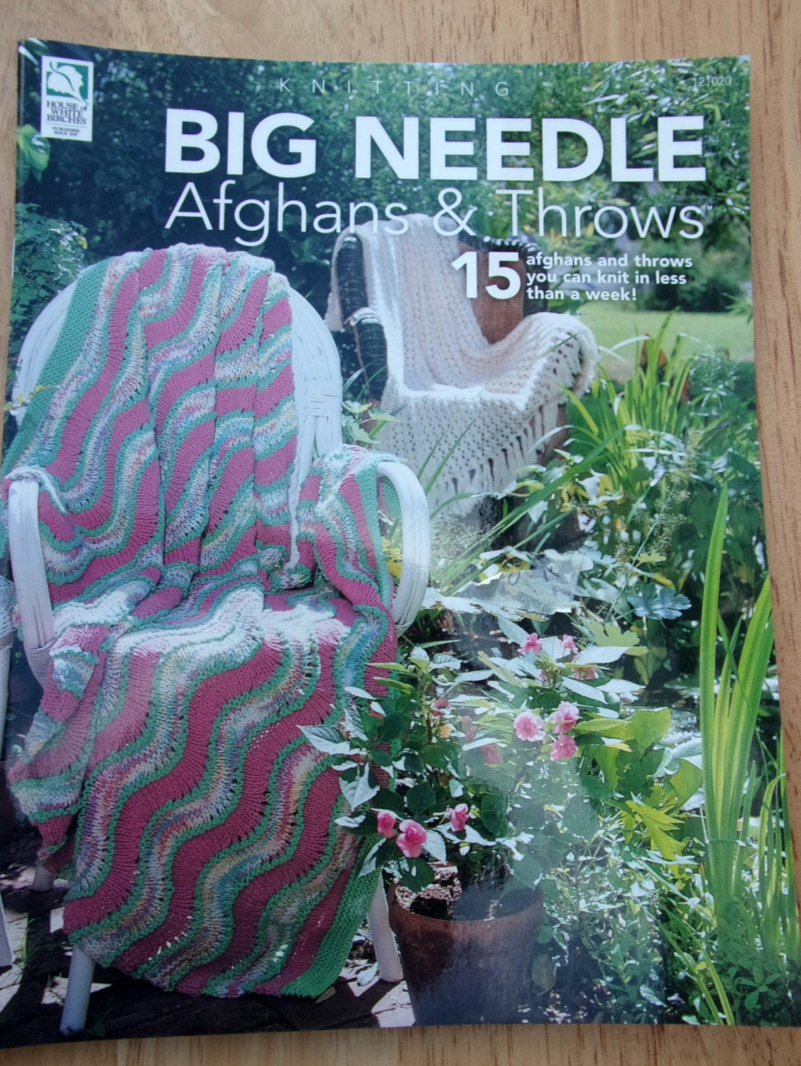 Knitted Afghan Patterns With Big Needles : Big Needle Afghans Throws pattern booklet, fast quick knit knitting blankets,...