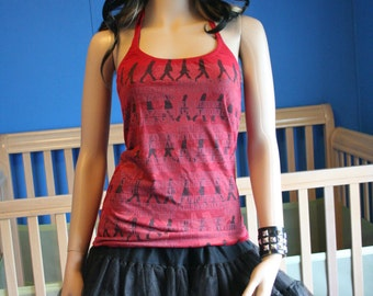 The Beatles halter top recycled XSMALL Small