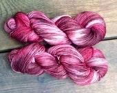Merlot - handdyed sockyarn 1.75 oz 224 yds