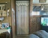 Macrame  Beaded Treatment For a Door Decor Curtain With Tie-Backs