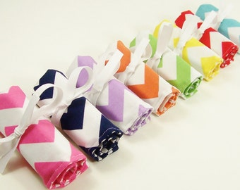 Crayon Roll Up - Chevron Crayon Roll - Stocking Stuffer - Party Favor - Kids