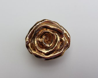 Gold Roses Hardware Shabby Chic Look Cabinet Knobs Drawer Pulls Elegant Gold High Gloss Metallic Home Decor Vintage Style Handmade