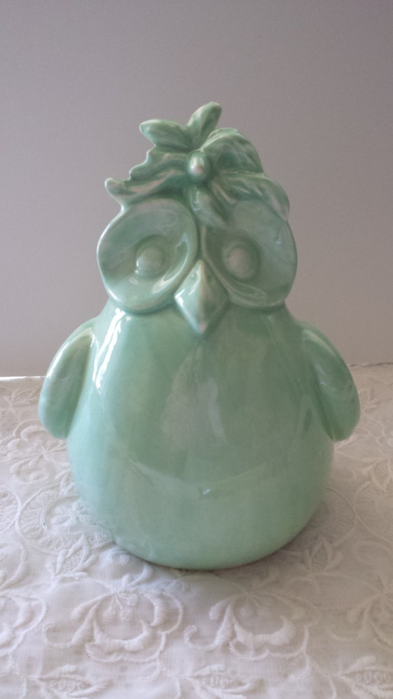 Owl Bank Mint Green Home Decor In Stock Ready To Ship