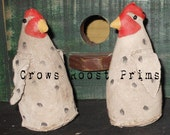 Zoo Animal Noahs Ark Series-CHICKEN Crows Roost Prims 377e Primitive  epattern   SALe immediate download