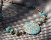 Very Variscite - Necklace and Earrings