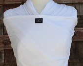 Ready To Ship-ORGANIC BAMBOO-LIGHTWEIGHT Baby Wrap/Sling Carrier- White-Newborn to Toddler-DvD Included