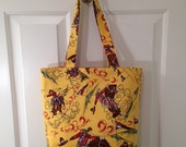LARGE TOTE BAG Retro Texas Rodeo Cowboy Purse Handbag Country western