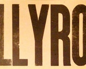 JELLYROLL Large Hand Printed Letterpress poster Song Music