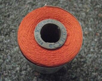 Clark's O.N.T. Mercerized Orange Cotton Thread