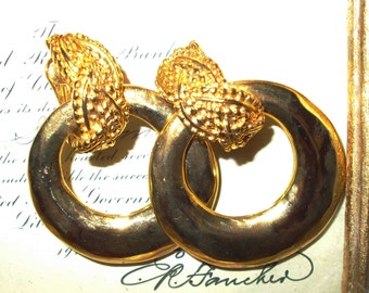 Vintage Bold Gold Earrings