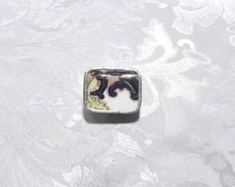 Broken China Jewelry Pin Brooch Vintage China