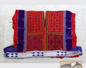 Red Kuchi Dress Yoke, Vintage Insert #21