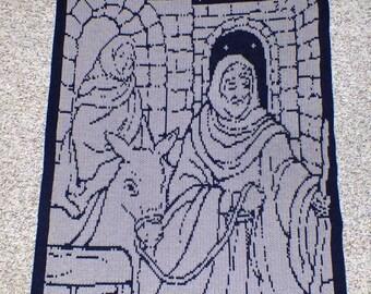 Nativity Scene Afghan /Lap Blanket