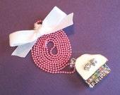 Petite Piano Pendant 3D rhinestone embedded music charm necklace