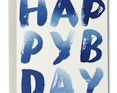 Happy B-Day Indigo Card