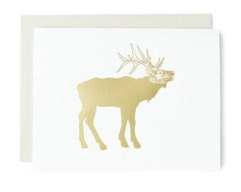 Elk Gold Foil Card