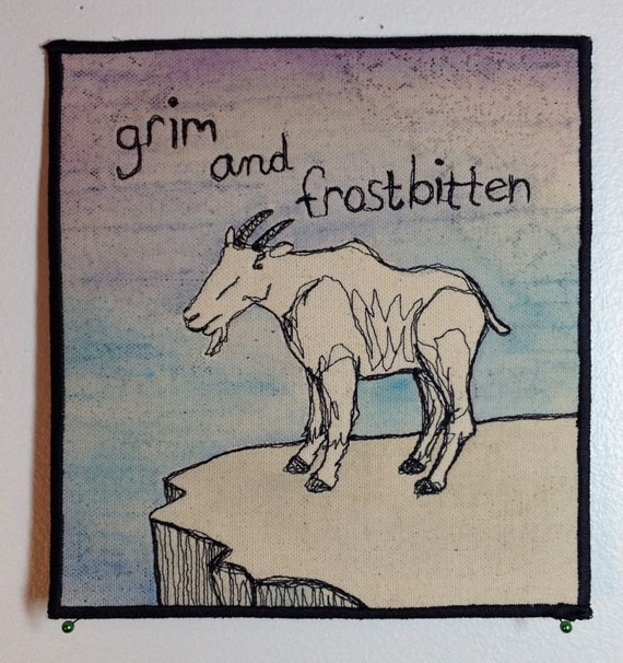 mountain goat thread sketch