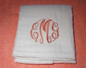 Monogrammed  Personalized Premium Embroidered Master Circle Baby Burp Pad Cloth