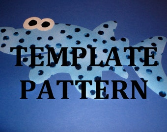 PDF Applique TEMPLATE Pattern....SILLY Shark...New