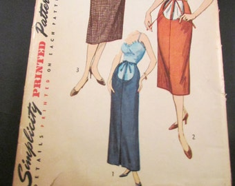 Vintage Simplicity Maternity Sewing Pattern 4004 Waist 24 Hips 33