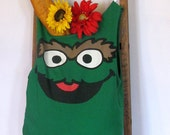 Oscar the Grouch Reusable Tote Bag by Fashion Green T Bags
