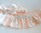 Blushing Bride Wedding Garter Set, Bridal, Bride Garter , Prom Garter