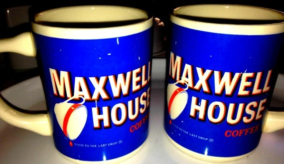 Vintage Maxwell House Coffee Cups