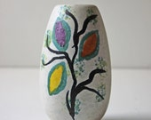 hand painted art pottery vase West Germany