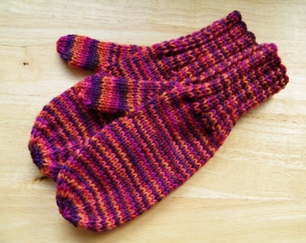 MITTENS HAND KNIT Adult Wool Commotion