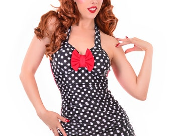 Scarlett Retro One Piece Swimsuit Sizes S, M, XXL
