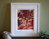 Botanical silhouette print - Summer Glow - Ready to frame - 8x10 or 16x20