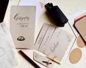 Calligraphy kit - B&W inks : Starting White calligraphy