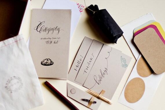 Calligraphy kit b w inks starting white