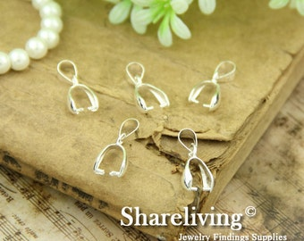 10pcs 20MM Silver Plated Pinch Bails Pendant Clasps FC107A