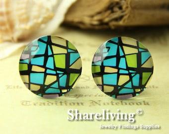 4pcs  25mm Handmade Photo Glass Cabs Cabochons -- BCH651D