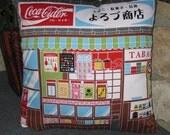 Neighborhood Variety Shop Design Zippered Japanese Furoshiki Pillow Cover