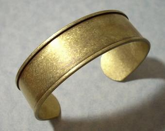 Adjustable Cuff Bracelet Blank / Channel Cuff Bracelet / Raw Brass Bracelet / Unfinished Brass Cuff