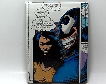Sewn Duct Tape Comic Book Wallet - Venom Design 3