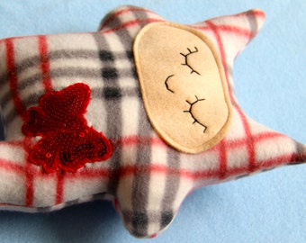 Red Bow Plaid Kitty