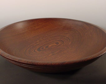 Huge African Wenge Wood Bowl Turned Wooden Bowl No. 5262 by Bryan Tyler Nelson