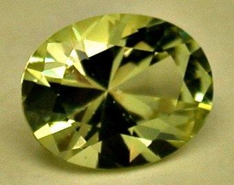 Vintage YELLOW APATITE Gemstone Faceted Oval 2.76 cts fg160